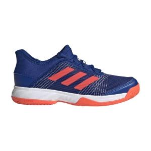 Junior Tennis Shoes Adidas Adizero Club Junior  Collegiate Royal/Solar Red/Cloud White FV4132
