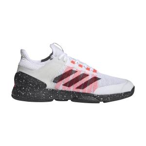 Men`s Tennis Shoes Adidas Adizero Ubersonic 2  Ftwr White/Core Black/Signal Pink FW0067