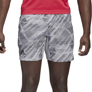 Pantalones Cortos Tenis Hombre Adidas All Over 4in Shorts  Glory Grey GG3740
