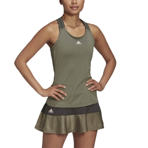 Women`s Tennis Tanks Adidas Classic Tank  Legacy Green/Pink Tint FT6401