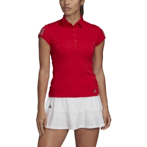 Magliette e Polo Tennis Donna Adidas Club 3 Stripes Polo  Scarlet FU0858