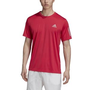 Men's Tennis Shirts Adidas Club 3 Stripes TShirt  Power Pink GI9289