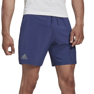 Men's Tennis Shorts Adidas Club Stretch Woven 7in Shorts  Tech Indigo FU0900