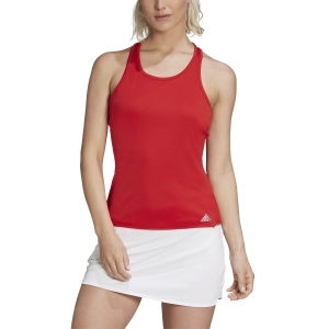 Women`s Tennis Tanks Adidas Club Tank  Scarlet/Grey Three F17 FU0883