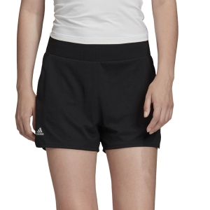Skirts, Shorts & Skorts Adidas Club HiRise 3in Shorts  Black/Matte Silver FK0746
