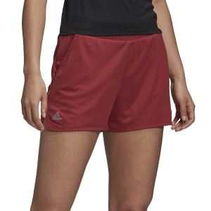 Faldas y Shorts Adidas Club HiRise 3in Shorts  Legacy Red FU0879