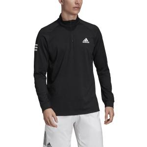 Maglie e Felpe Tennis Uomo Adidas Club Maglia  Black/White FM2544