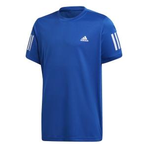 Tennis Polo and Shirts Adidas Club 3 Stripes Classic TShirt Boys  Team Royal Blue/White GJ0078