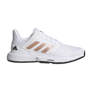 Calzado Tenis Mujer Adidas CourtJam Bounce  Ftwr White/Copper Met/Core Black FU8147