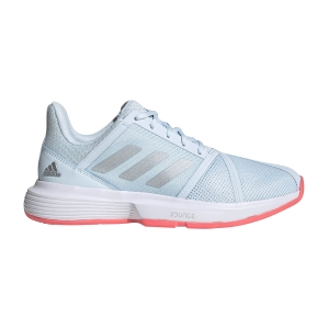 Women`s Tennis Shoes Adidas CourtJam Bounce  Sky Tint/Silver Met/Signal Pink FU8146