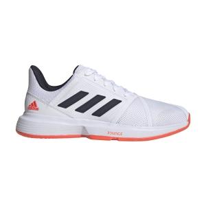 Men`s Tennis Shoes Adidas CourtJam Bounce  Ftwr White/Legend Ink/Solar Red FU8102