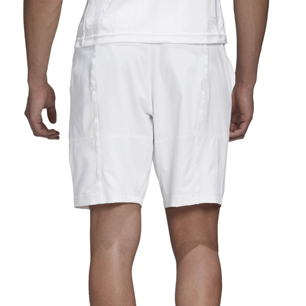 Adidas Ergo 9in Shorts - White/Scarlet
