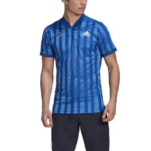 Maglietta Tennis Uomo Adidas Freelift Maglietta  Team Royal Blue/White FT5811