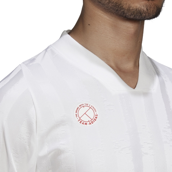 Adidas Freelift T-Shirt - White/Scarlet