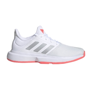 Calzado Tenis Mujer Adidas GameCourt  Ftwr White/Silver Met/Signal Pink FU8130