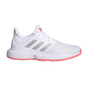 Women`s Tennis Shoes Adidas GameCourt  Ftwr White/Silver Met/Signal Pink FU8130