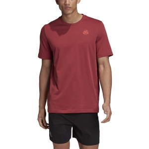 Men's Tennis Shirts Adidas Graphic TShirt  Legacy Red GD9222
