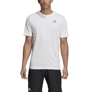 Men's Tennis Shirts Adidas Graphic TShirt  White GD9221