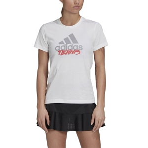 Women`s Tennis T-Shirts and Polos Adidas Logo Write TShirt  Write GD9114
