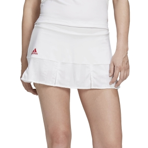 Gonne e Pantaloncini Tennis Adidas Match Aeroready Gonna  White/Scarlet FT6406