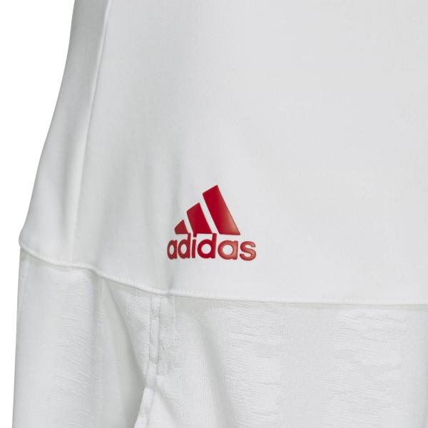 Adidas Match Aeroready Skirt - White/Scarlet