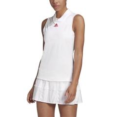 adidas Match Tank - White/Scarlet