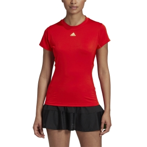 Women`s Tennis T-Shirts and Polos Adidas Match TShirt  Scarlet/Haze Coral FT6392