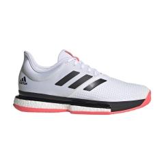 Adidas SoleCourt Boost - Ftwr White/Core Black/Signal Pink