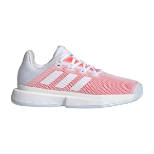 Women`s Tennis Shoes Adidas SoleMatch Bounce  Ftwr White/Signal Pink FU8126