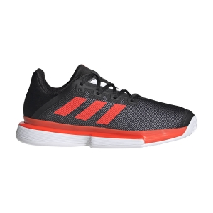 Men`s Tennis Shoes Adidas SoleMatch Bounce  Core Black/Solar Red/Ftwr White FU8117