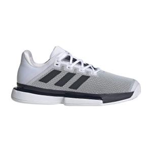 Men`s Tennis Shoes Adidas SoleMatch Bounce  Ftwr White/Legend Ink FU8118