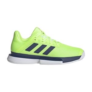 Men`s Tennis Shoes Adidas SoleMatch Bounce  Signal Green/Tech Indigo/Cloud White FU8119