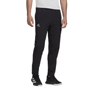 Pantaloni e Tights Tennis Uomo Adidas Stretch Woven Pantaloni  Black/Grey Three F17 FT6104
