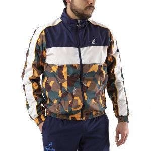Men's Tennis Jackets Australian Smash Jacket  Camo/Bianco/Blu 88637842