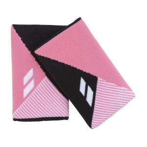 Tennis Head and Wristbands Babolat Reversible Jumbo Wristbands Woman  Black/Geranium Pink 5UA12812014