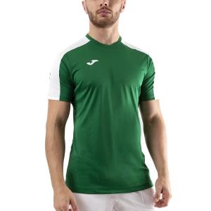 Men's Tennis Shirts Joma Academy III TShirt  Green Medium/White 101656.452