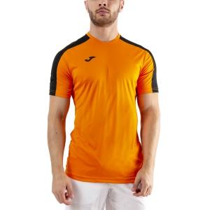 Men's Tennis Shirts Joma Academy III TShirt  Orange/Black 101656.881