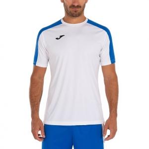 Maglietta Tennis Uomo Joma Academy III Maglietta  White/Royal 101656.207