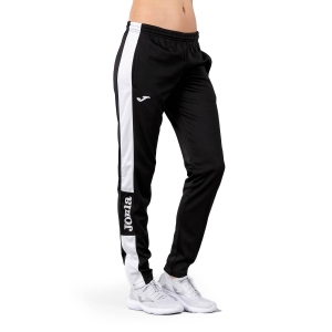 Women's Tennis Pants and Tights Joma Championship IV Pants  Black/White 900450.102