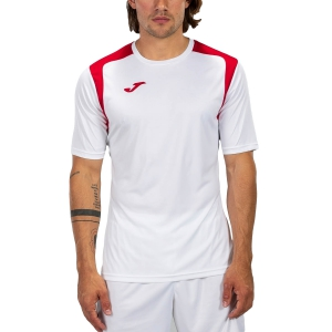 Maglietta Tennis Uomo Joma Championship V Maglietta  White/Red 101264.206