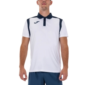 Polo Tenis Hombre Joma Championship V Polo  White/Dark Navy 101265.203