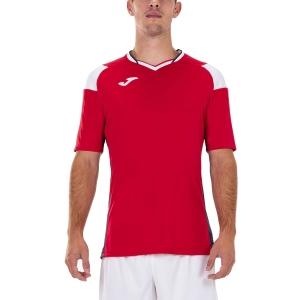 Maglietta Tennis Uomo Joma Crew III Maglietta  Red/Dark Navy/White 101269.602