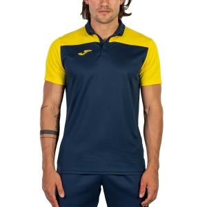 Polo Tenis Hombre Joma Crew III Polo  Dark Navy/Yellow 101371.339