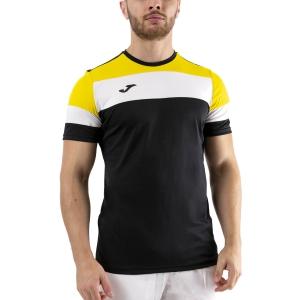 Men's Tennis Shirts Joma Crew IV TShirt  Black/Yellow/White 101534.109