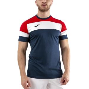 Men's Tennis Shirts Joma Crew IV TShirt  Dark Navy/Red/White 101534.336