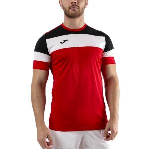 Men's Tennis Shirts Joma Crew IV TShirt  Red/Black/White 101534.601