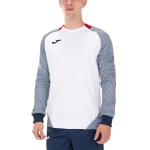 Camisetas y Sudaderas Hombre Joma Essential II Sudadera  White/Red/Dark Navy 101510.203