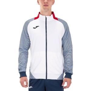 Camisetas y Sudaderas Hombre Joma Essential II Full Zip Sudadera  White/Red/Dark Navy 101535.203