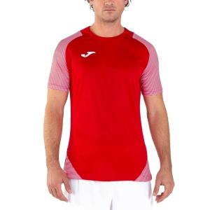 Maglietta Tennis Uomo Joma Essential II Maglietta  Red/White 101508.602