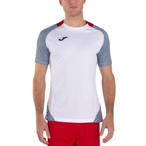 Maglietta Tennis Uomo Joma Essential II Maglietta  White/Dark Navy/Red 101508.203